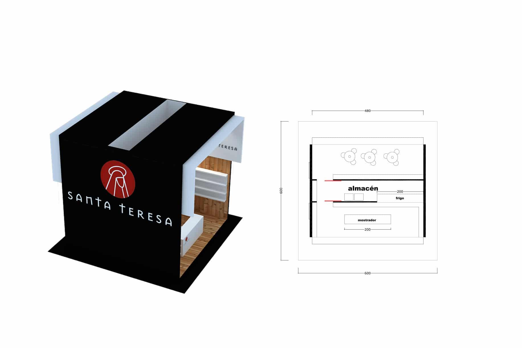Stand SantaTeresa MATERIA EFÍMERA Diseño fabricación y montaje de stands a nivel nacional e internacional