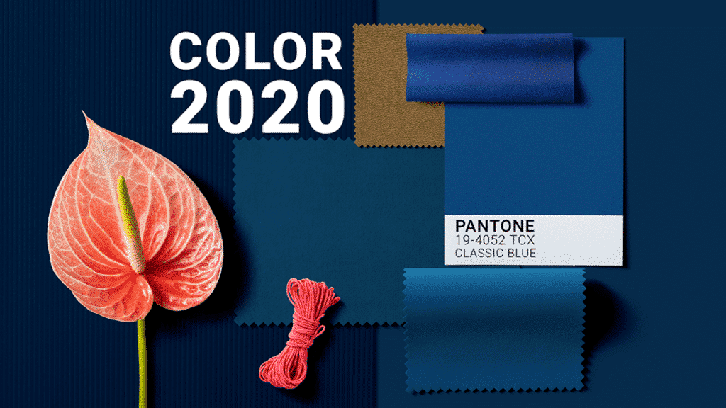 COLOR-DEL-ANY-2020-PANTONE-CLASSIC- BLUE-MATERIA-EFIMERA-stands