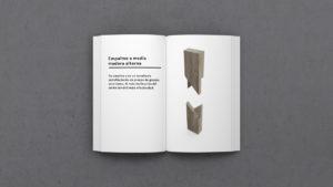Definición de Empalme a media madera alterna-MATERIA-EFIMERA-STANDS