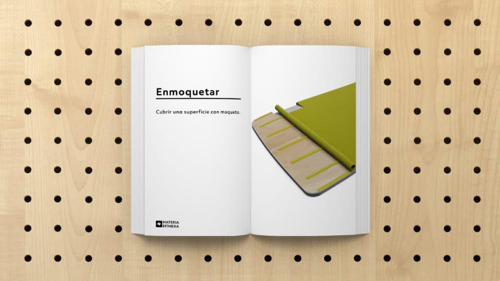 Definición de Enmoquetar que significa enmoquetar-MATERIA-EFIMERA-STANDS- Glosario