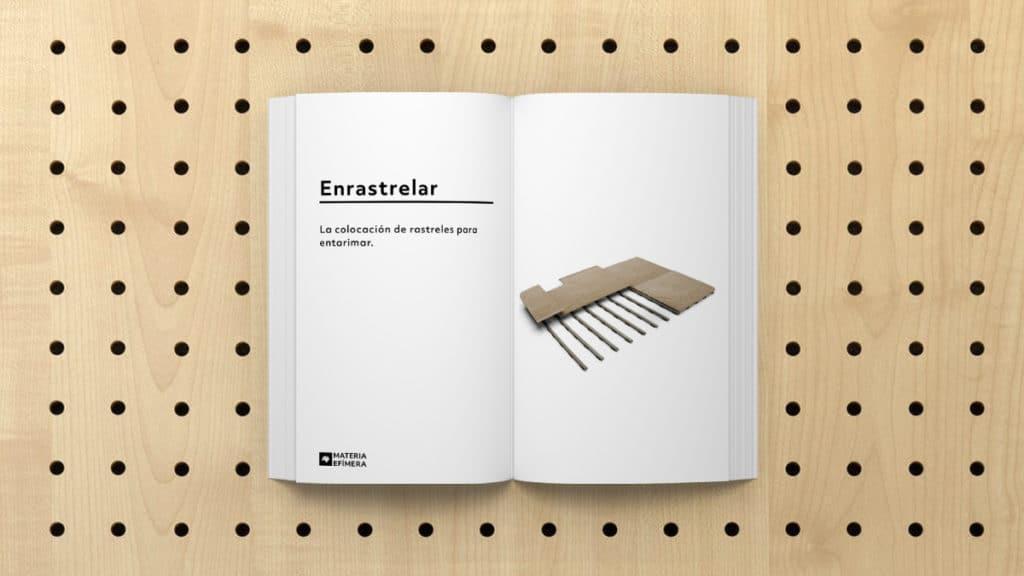 Definición de Enrastrelar- que significa Enrastrelar-MATERIA-EFIMERA-STANDS- Glosario