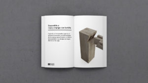 Definición de Ensamble a caja y espiga con barbilla-MATERIA-EFIMERA-STANDS