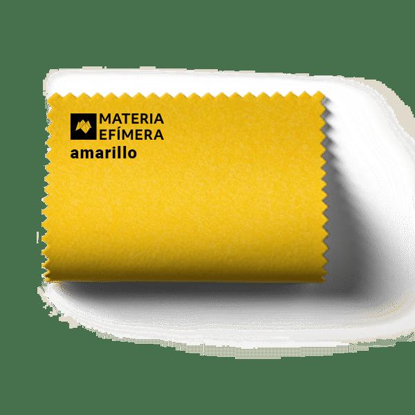 Muestra de moqueta color amarillo | Moquetas de feria tonos amarillos-Materiales relacionados con la arquitectura efímera, el diseño de stands, eventos, congresos y ferias.