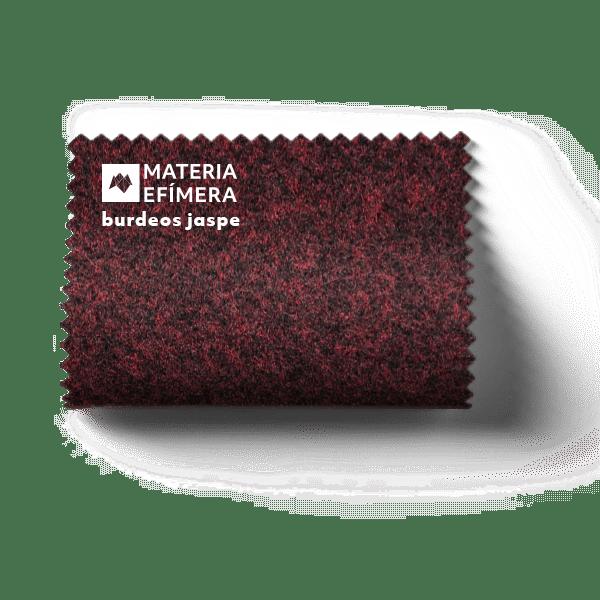 Moqueta ferial burdeos jaspe - Muestra moqueta color burdeos jaspe -PANTONE 4975 CP-MATERIA-EFÍMERA-STANDS