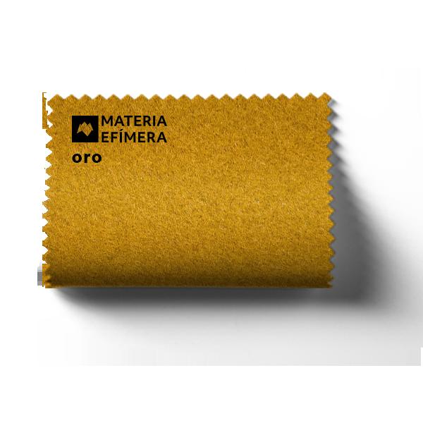 Moqueta ferial oro- Muestra moqueta color oro -PANTONE 20-0049 TPM-MATERIA-EFÍMERA-STANDS