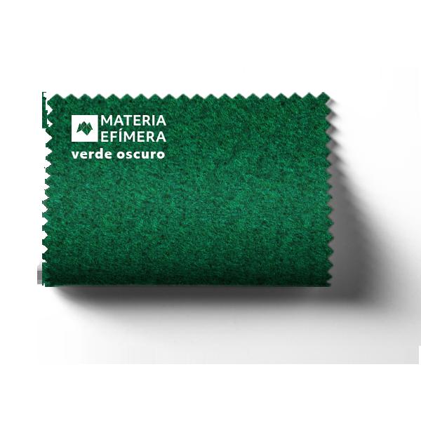 Moqueta ferial verde oscuro- Muestra moqueta color verde oscuro-PANTONE 3537 C-MATERIA-EFÍMERA-STANDS