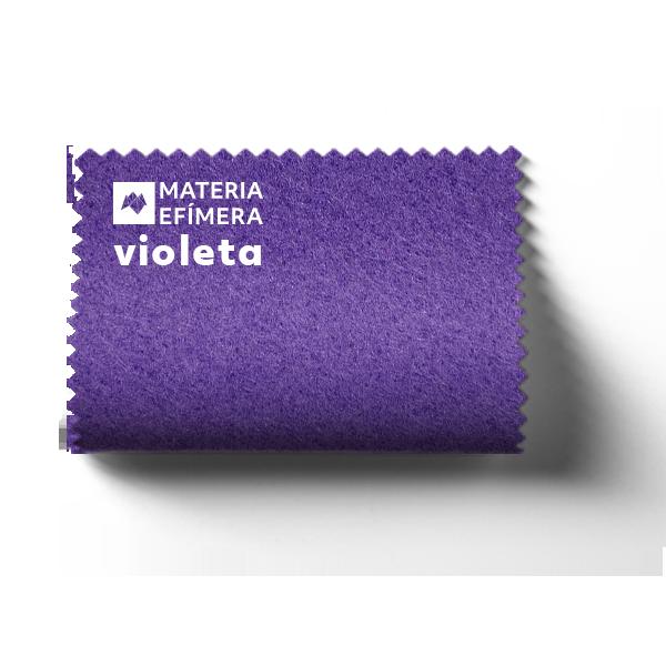 Moqueta ferial violeta- Muestra moqueta color morado violeta-PANTONE 2665 C-MATERIA-EFÍMERA-STANDS