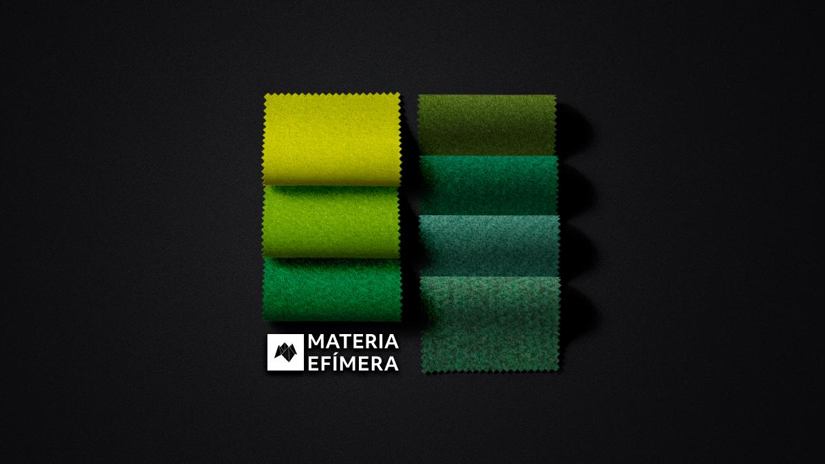 Moquetas de feria tonos verdes-Moquetas feriales verdes- Muestras moqueta color verde--MATERIA-EFÍMERA-STANDS