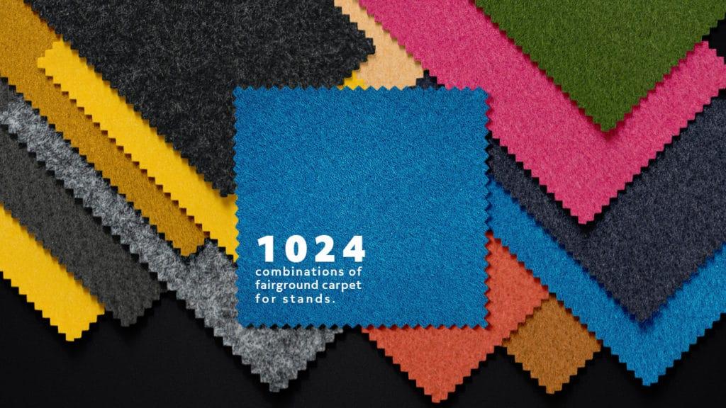 fairground carpet for stands, fairground carpet, carpets for events and conferences, combining carpets