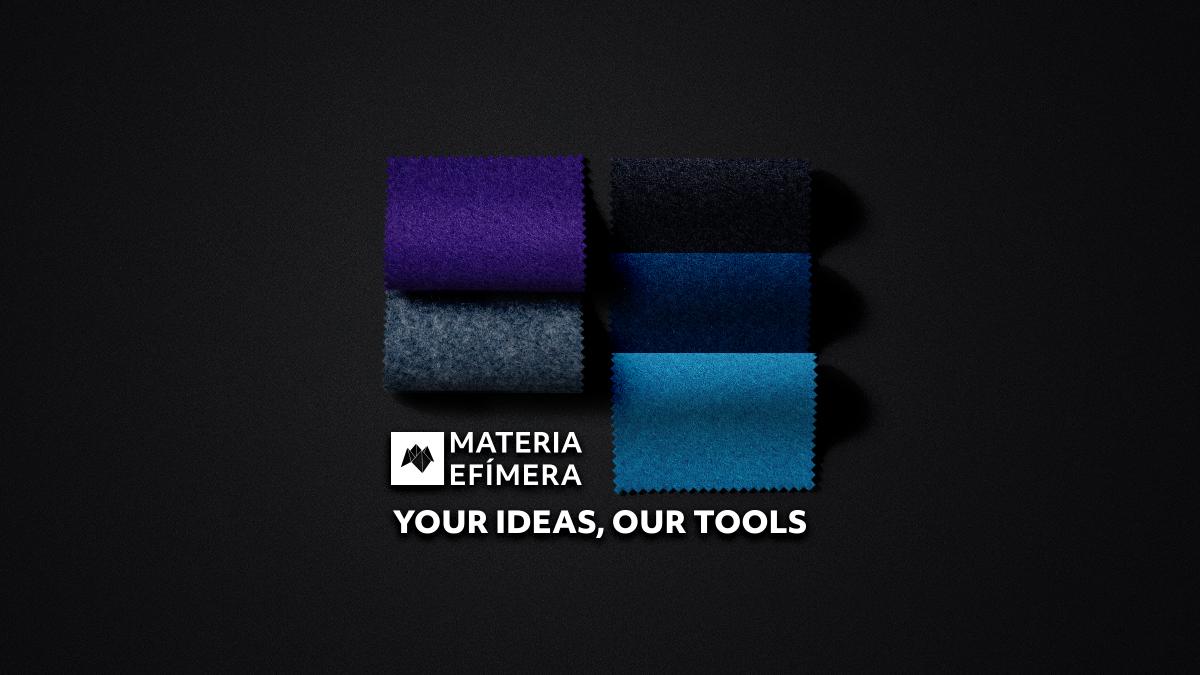 Moquetas de feria tonos azules-Moquetas feriales azules- Muestras moqueta color azul--MATERIA-EFÍMERA-STANDS