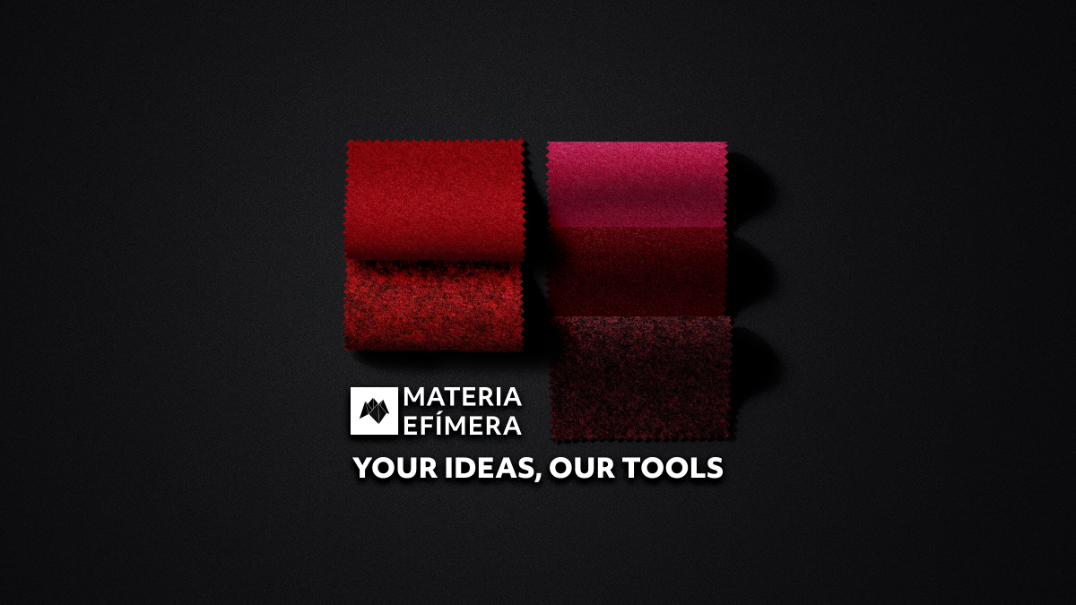Moquetas de feria tonos rojos-Moquetas feriales rojas- Muestras moqueta color rojo-MATERIA-EFÍMERA-STANDS