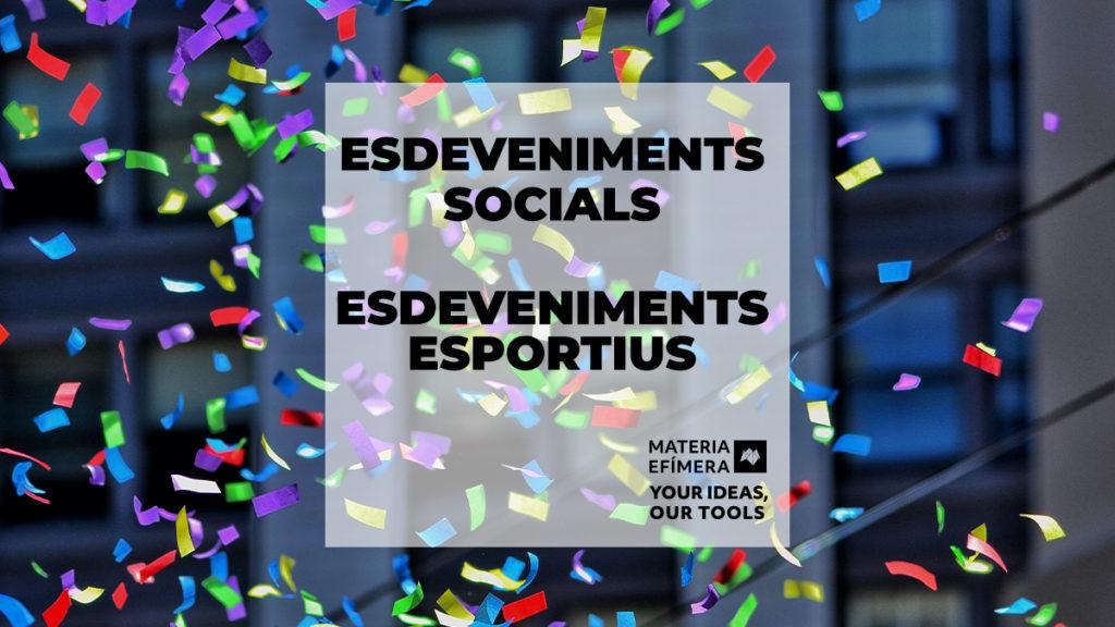 ESDEVENIMENTS SOCIALS I ESDEVENIMENTS OCISPORT esportius-MATERIA-EFIMERA-estands-post