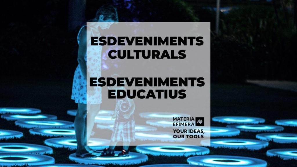 esdeveniments culturals i esdeveniments educatius-MATERIA-EFIMERA-estands-post