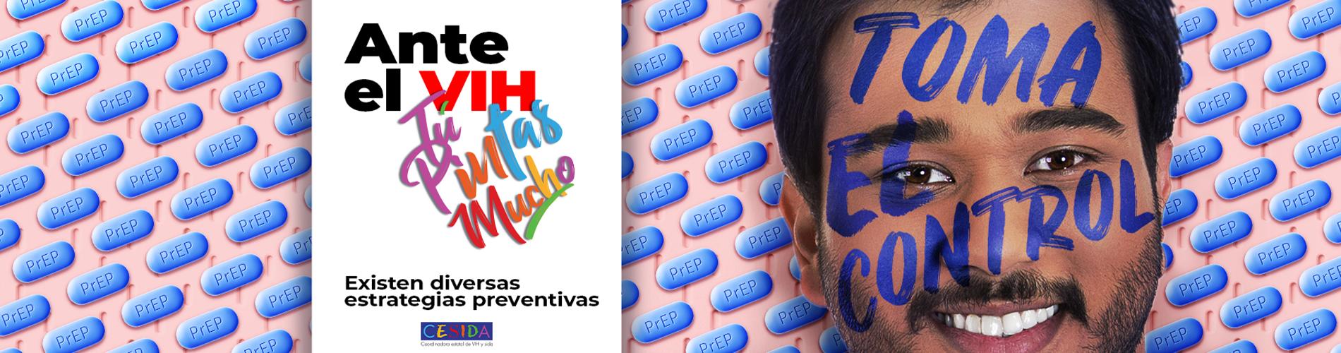 Campaña Ante el VIH Tú pintas mucho-banner