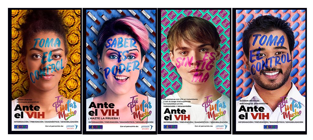 Campaña Ante el VIH Tú pintas mucho carteleria